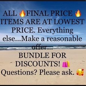 IF YOU LIKE 🔥FINAL PRICE 🔥 ITEMS...BUNDLE